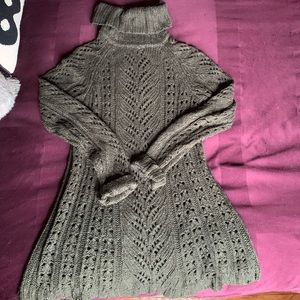 Dark green knit Anthropologie sweater dress